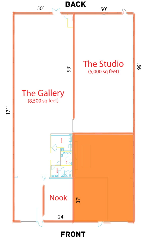 Gallery 874 Event Venue Layout