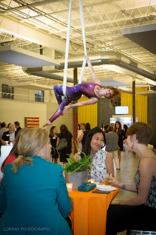 Event at Gallery 874 with aerialist performance | Event Venue | Event Rental | Event Space | Gallery 874 | Atlanta, GA