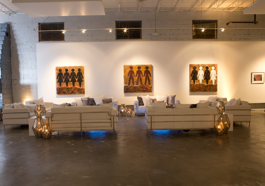 Lounge Setup for Holiday Party at Gallery 874